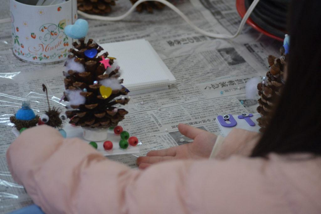 ミニクリスマスツリー作り