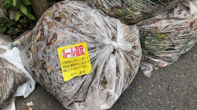 鹿児島市 ゴミ出し ルール 枝 落ち葉