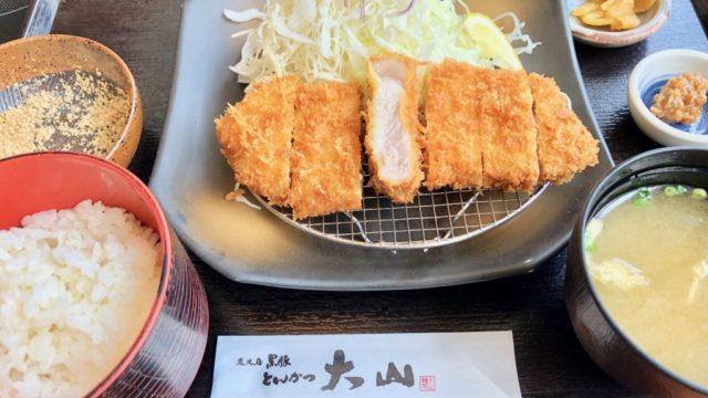 鹿児島中央駅のアミュで食べたい黒豚トンカツ【とんかつ 大山】
