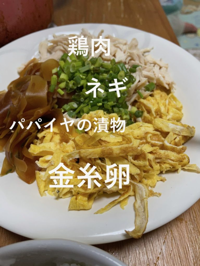 鶏飯 奄美大島 具材 長ネギ